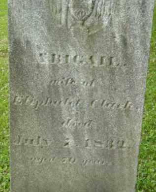 CLARK, ABIGAIL - Berkshire County, Massachusetts | ABIGAIL CLARK - Massachusetts Gravestone Photos