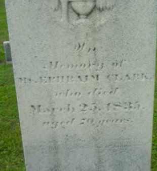 CLARK, EPHRAIM - Berkshire County, Massachusetts   EPHRAIM CLARK - Massachusetts Gravestone Photos