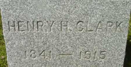 CLARK, HENRY H - Berkshire County, Massachusetts | HENRY H CLARK - Massachusetts Gravestone Photos