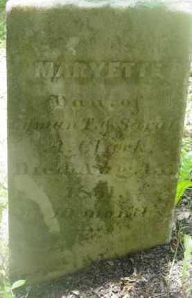 CLARK, MARYETTE - Berkshire County, Massachusetts | MARYETTE CLARK - Massachusetts Gravestone Photos