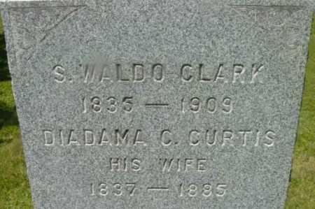 CLARK, DIADAMA C - Berkshire County, Massachusetts | DIADAMA C CLARK - Massachusetts Gravestone Photos