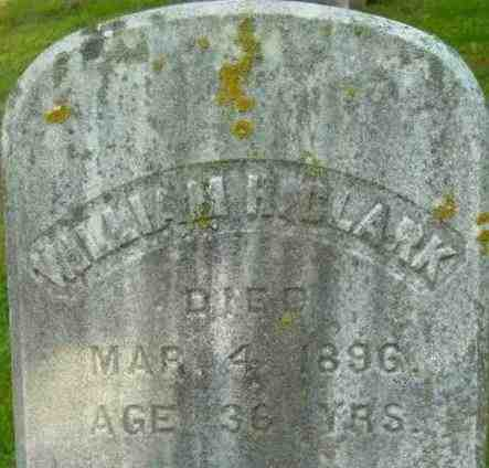 CLARK, WILLIAM H - Berkshire County, Massachusetts | WILLIAM H CLARK - Massachusetts Gravestone Photos