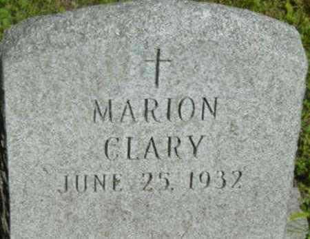 CLARY, MARION - Berkshire County, Massachusetts | MARION CLARY - Massachusetts Gravestone Photos