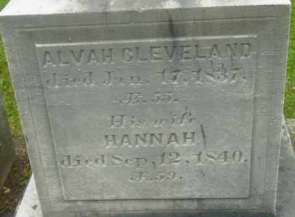 CLEVELAND, ALVAH - Berkshire County, Massachusetts | ALVAH CLEVELAND - Massachusetts Gravestone Photos