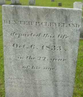CLEVELAND, DEXTER P - Berkshire County, Massachusetts   DEXTER P CLEVELAND - Massachusetts Gravestone Photos