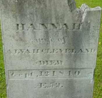 CLEVELAND, HANNAH - Berkshire County, Massachusetts | HANNAH CLEVELAND - Massachusetts Gravestone Photos