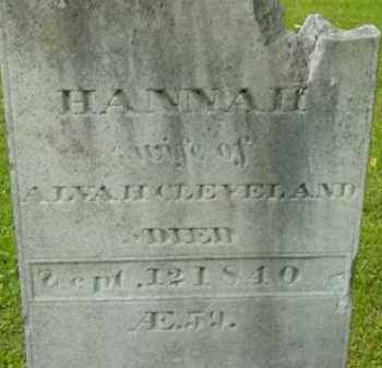 CLEVELAND, HANNAH - Berkshire County, Massachusetts | HANNAH CLEVELAND - Massachusetts Gravestone Photos
