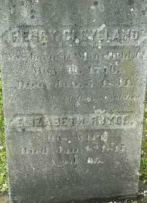 CLEVELAND, ELIZABETH - Berkshire County, Massachusetts | ELIZABETH CLEVELAND - Massachusetts Gravestone Photos