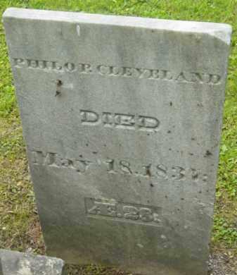 CLEVELAND, PHILO P - Berkshire County, Massachusetts | PHILO P CLEVELAND - Massachusetts Gravestone Photos