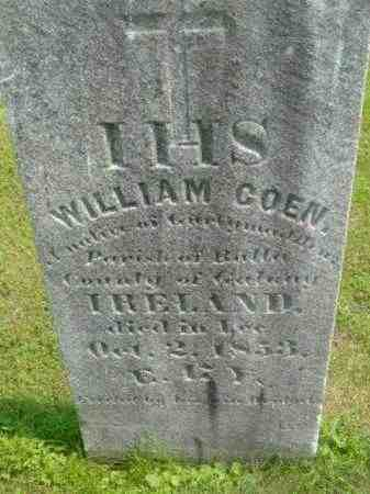COEN, WILLIAM - Berkshire County, Massachusetts | WILLIAM COEN - Massachusetts Gravestone Photos