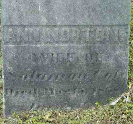 COLE, ANN - Berkshire County, Massachusetts | ANN COLE - Massachusetts Gravestone Photos