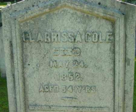 COLE, CLARRISSA - Berkshire County, Massachusetts   CLARRISSA COLE - Massachusetts Gravestone Photos