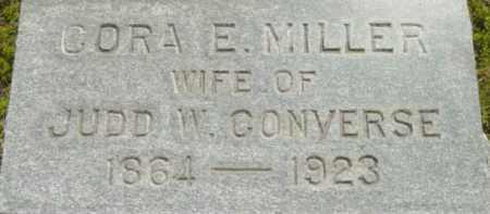 MILLER, CORA E - Berkshire County, Massachusetts   CORA E MILLER - Massachusetts Gravestone Photos