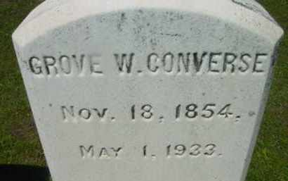 CONVERSE, GROVE W - Berkshire County, Massachusetts | GROVE W CONVERSE - Massachusetts Gravestone Photos