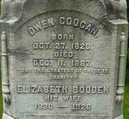 COOGAN, ELIZABETH - Berkshire County, Massachusetts | ELIZABETH COOGAN - Massachusetts Gravestone Photos