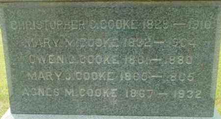COOKE, MARY M - Berkshire County, Massachusetts | MARY M COOKE - Massachusetts Gravestone Photos
