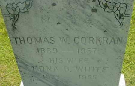 WHITE CORKRAN, EDNA B - Berkshire County, Massachusetts | EDNA B WHITE CORKRAN - Massachusetts Gravestone Photos
