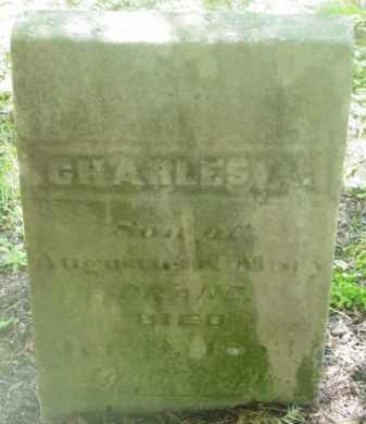 CRANE, CHARLES A - Berkshire County, Massachusetts | CHARLES A CRANE - Massachusetts Gravestone Photos