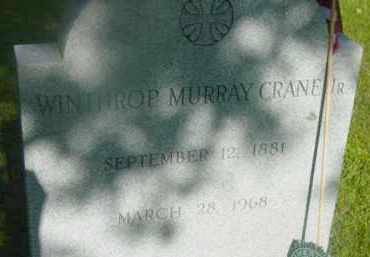 CRANE, WINTHROP MURRAY - Berkshire County, Massachusetts   WINTHROP MURRAY CRANE - Massachusetts Gravestone Photos