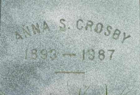 CROSBY, ANNA S - Berkshire County, Massachusetts   ANNA S CROSBY - Massachusetts Gravestone Photos