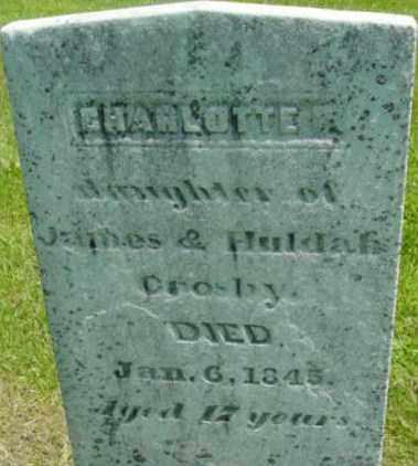 CROSBY, CHARLOTTE - Berkshire County, Massachusetts   CHARLOTTE CROSBY - Massachusetts Gravestone Photos