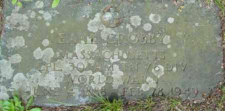 CROSBY, EARL - Berkshire County, Massachusetts | EARL CROSBY - Massachusetts Gravestone Photos