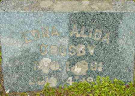 CROSBY, EDNA ALIDA - Berkshire County, Massachusetts | EDNA ALIDA CROSBY - Massachusetts Gravestone Photos