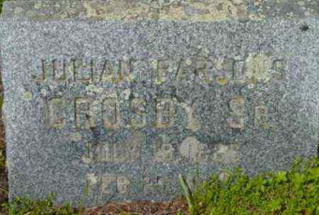 CROSBY, JULIAN PARSONS - Berkshire County, Massachusetts   JULIAN PARSONS CROSBY - Massachusetts Gravestone Photos