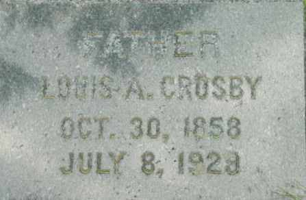 CROSBY, LOUIS A - Berkshire County, Massachusetts | LOUIS A CROSBY - Massachusetts Gravestone Photos