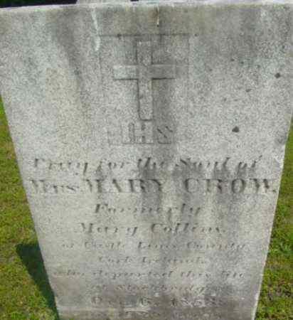 COLLINS, MARY - Berkshire County, Massachusetts | MARY COLLINS - Massachusetts Gravestone Photos