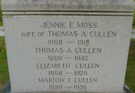 CULLEN, JENNIE E - Berkshire County, Massachusetts | JENNIE E CULLEN - Massachusetts Gravestone Photos