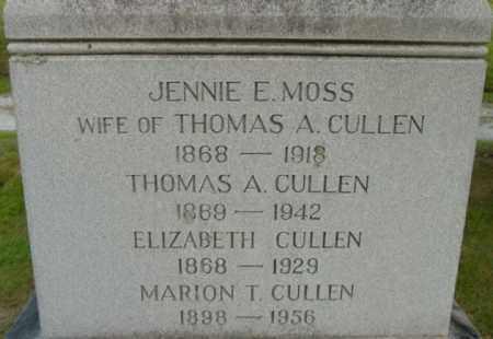 CULLEN, MARION T - Berkshire County, Massachusetts | MARION T CULLEN - Massachusetts Gravestone Photos