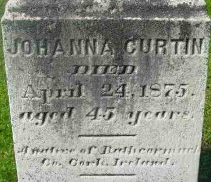 CURTIN, JOHANNA - Berkshire County, Massachusetts | JOHANNA CURTIN - Massachusetts Gravestone Photos