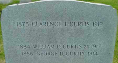 CURTIS, WILLIAM D - Berkshire County, Massachusetts | WILLIAM D CURTIS - Massachusetts Gravestone Photos