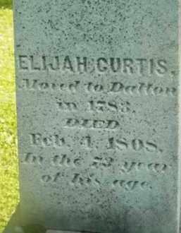 CURTIS, ELIJAH - Berkshire County, Massachusetts | ELIJAH CURTIS - Massachusetts Gravestone Photos