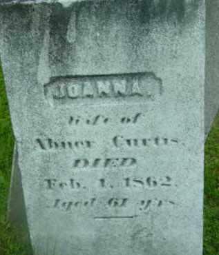 CURTIS, JOANNA - Berkshire County, Massachusetts | JOANNA CURTIS - Massachusetts Gravestone Photos