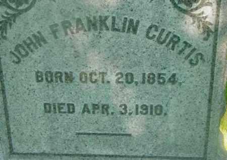 CURTIS, JOHN FRANKLIN - Berkshire County, Massachusetts | JOHN FRANKLIN CURTIS - Massachusetts Gravestone Photos