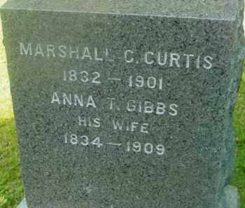 CURTIS, MARSHALL C - Berkshire County, Massachusetts | MARSHALL C CURTIS - Massachusetts Gravestone Photos