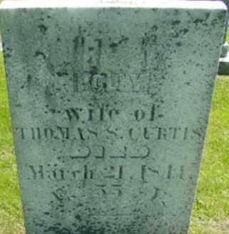 CURTIS, POLLY - Berkshire County, Massachusetts | POLLY CURTIS - Massachusetts Gravestone Photos