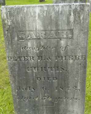 CURTIS, SARAH - Berkshire County, Massachusetts | SARAH CURTIS - Massachusetts Gravestone Photos