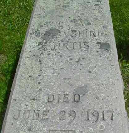 CURTIS, WILLIAM DERBYSHIRE - Berkshire County, Massachusetts   WILLIAM DERBYSHIRE CURTIS - Massachusetts Gravestone Photos