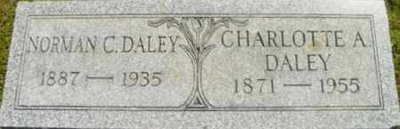 DALEY, CHARLOTTE A - Berkshire County, Massachusetts | CHARLOTTE A DALEY - Massachusetts Gravestone Photos