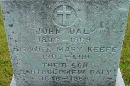 KEEFE DALY, MARY - Berkshire County, Massachusetts | MARY KEEFE DALY - Massachusetts Gravestone Photos
