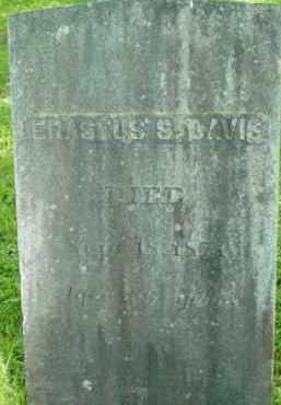 DAVIS, ERASTUS S - Berkshire County, Massachusetts | ERASTUS S DAVIS - Massachusetts Gravestone Photos