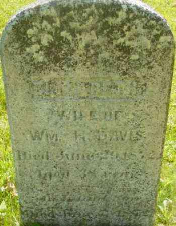 DAVIS, ELIZABETH - Berkshire County, Massachusetts | ELIZABETH DAVIS - Massachusetts Gravestone Photos