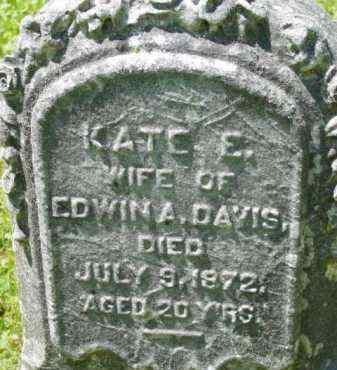 DAVIS, KATE E - Berkshire County, Massachusetts   KATE E DAVIS - Massachusetts Gravestone Photos