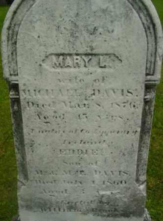 DAVIS, MARY L - Berkshire County, Massachusetts | MARY L DAVIS - Massachusetts Gravestone Photos