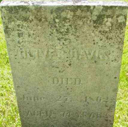 DAVIS, OLIVER - Berkshire County, Massachusetts | OLIVER DAVIS - Massachusetts Gravestone Photos