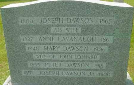 CAVANAUGH DAWSON, ANNE - Berkshire County, Massachusetts   ANNE CAVANAUGH DAWSON - Massachusetts Gravestone Photos