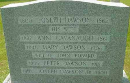 DAWSON LEONARD, MARY - Berkshire County, Massachusetts | MARY DAWSON LEONARD - Massachusetts Gravestone Photos